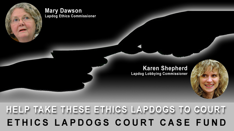 Ethics Lapdogs Court Case Fund page