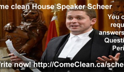 Come Clean House Speaker Scheer
