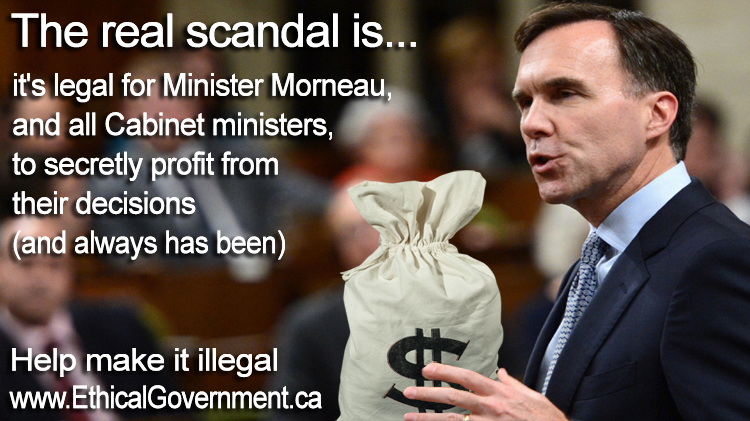 Ethics Commissioner ruling exploits huge loophole in federal ethics law to let Finance Minister Morneau off the hook for clearly unethical actions