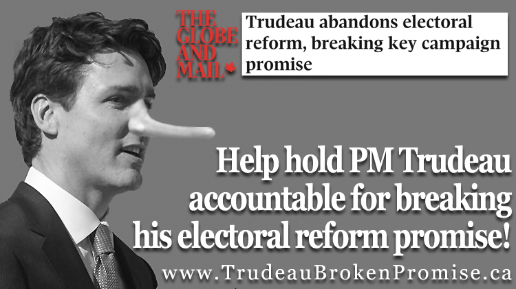 (English) PM Trudeau Electoral Reform Accountability Campaign